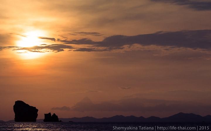 Краби, закат, Таиланд
