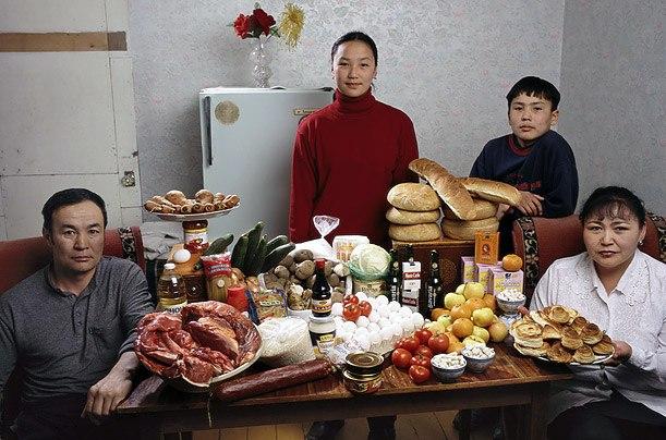 Монголия: семья Баццури, Улан-Батора Расходы на продукты питания в течение одной недели: 41,985.85 тугриков или $ 40,02 Семья рецепт: пельмени из баранины