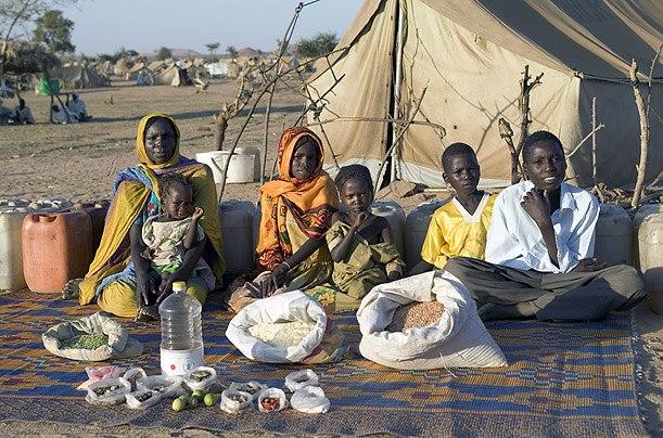 Чад: семья Абубакар, Breidjing лагерь Продовольственная Расходы в неделю: 685 африканских франков, или $ 1,23 Любимые блюда: суп со свежим мясом овец