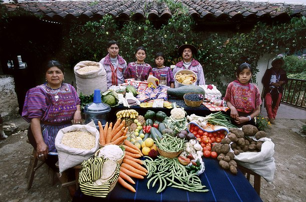 Гватемала: Mendozas в Todos Santos Продовольственная Расходы в неделю: 573 Quetzales или $ 75,70 Семейный рецепт: Тушеная Турции и овцы Суп Susana Perez Matias