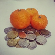 Мандарины и деньги