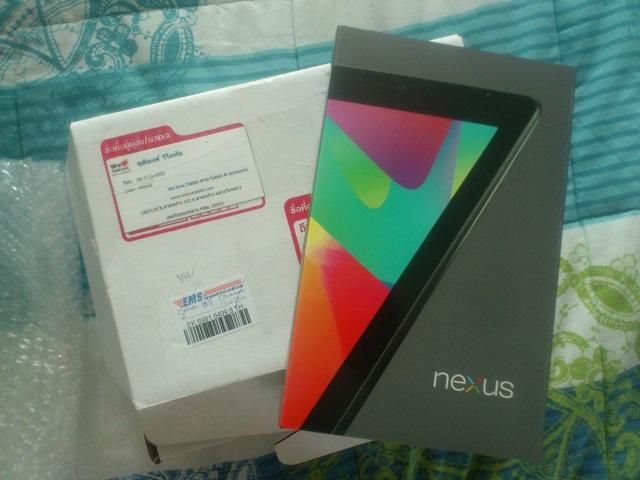 Упакованный Nexus 7