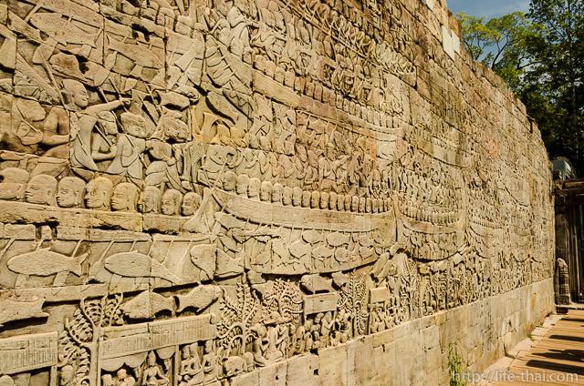 Барельеф, Байон, Ангкор