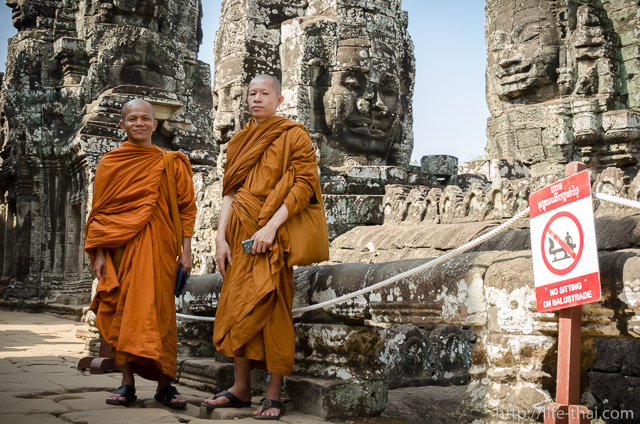 Монахи, Байон, Ангкор