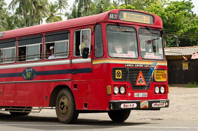 Автобус, Шри Ланка