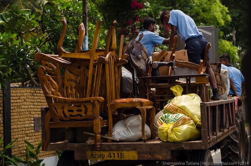 Переезд, Шри Ланка
