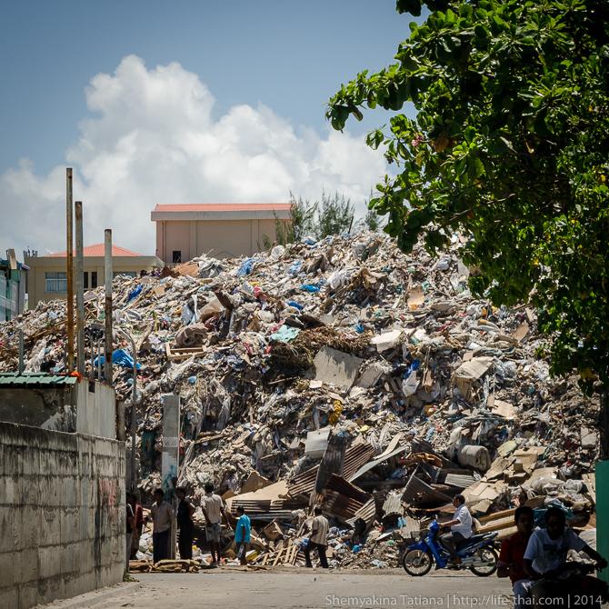 Мальдивы, мусор
