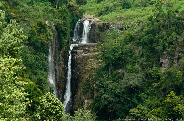 Водопад, Нувара Элия, Шри Ланка