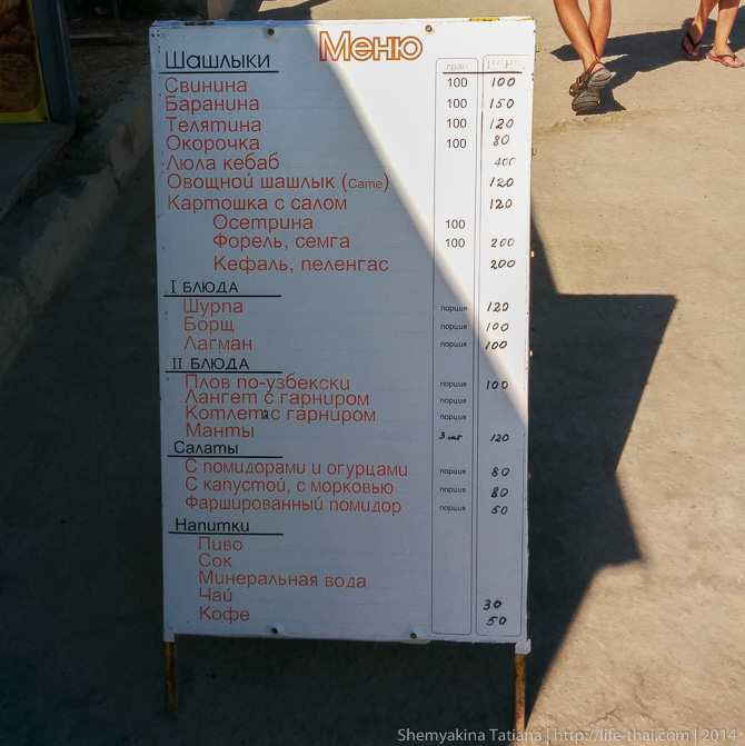 Цены на еду, Крым