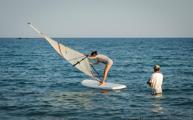 Виндсёрфинг, Тихая бухта, Крым