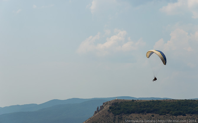 Параплан, гора Клементьева, Крым