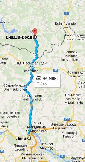 Австрия, карта