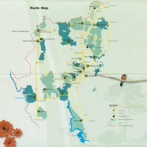 Карта 18 нац. парков Таиланда