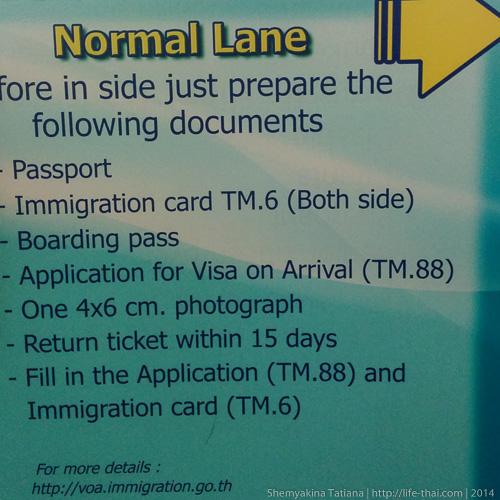 Список документов на визу по прилёту