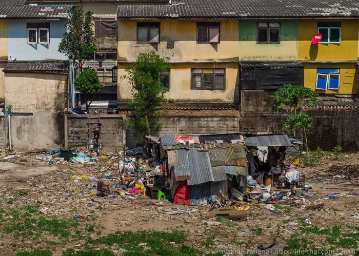 Трущобы, Бангкок, Таиланд