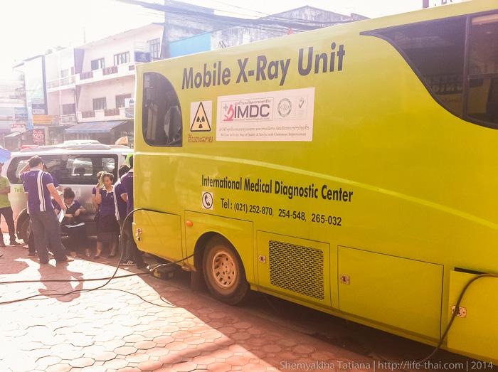 Мобильный рентген, Лаос