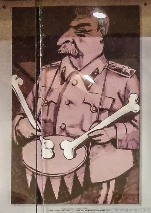 Сталин-барабанщик, плакат