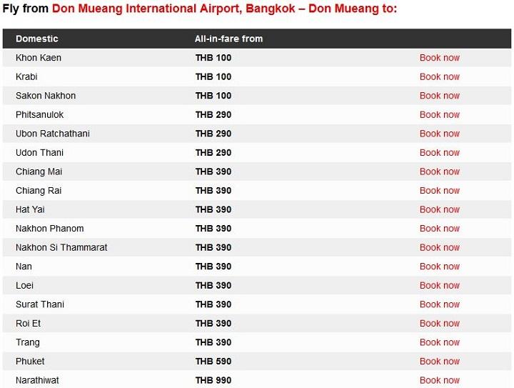 Распродажа авиабилетов из Бангкока у AirAsia
