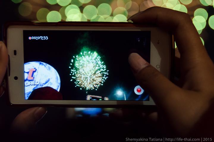 Новогодний салют, Бангкок, Таиланд