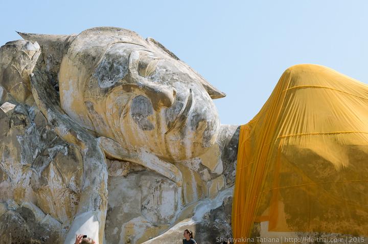 Лежащий Будда, Аюттайя, Таиланд