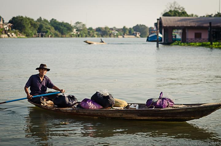 Рыбак, Аюттайя, Таиланд