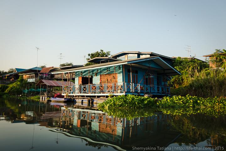 Дом на воде, Аюттайя, Таиланд