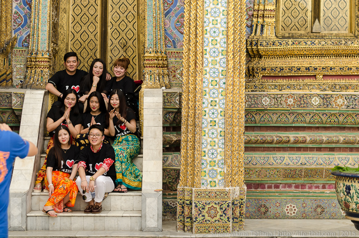 Китайские туристы, Бангкок, Королевский дворец