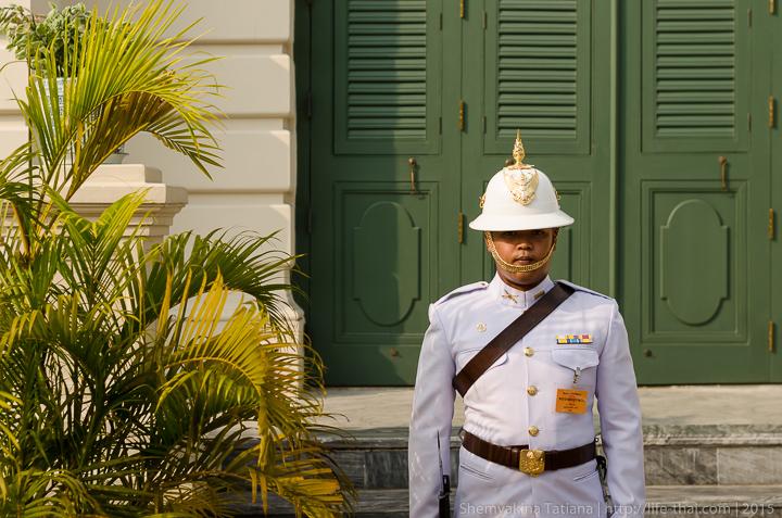 Почетный караул, Бангкок, Королевский дворец