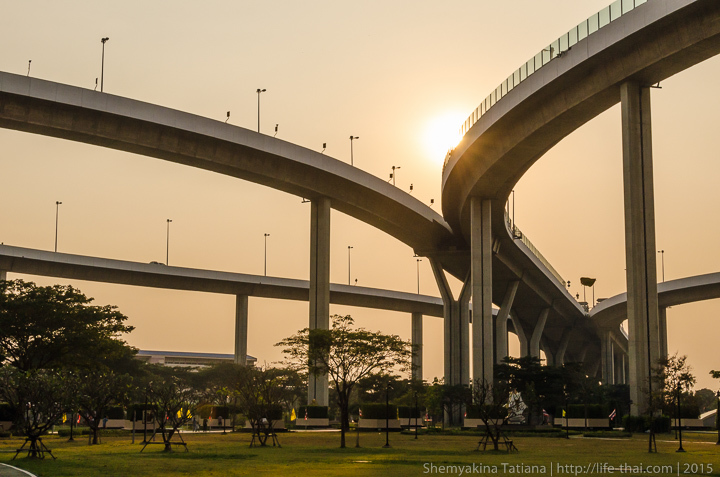 Мост Бхумибол Bhumibol bridge, Бангкок, Таиланд