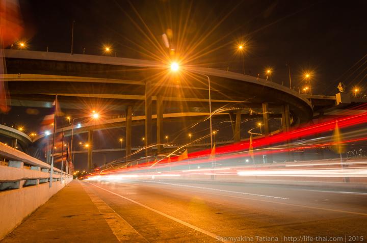 Мега мост Bhumibol bridge, Бангкок, Таиланд
