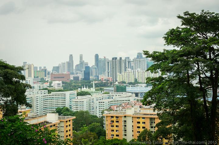 Вид на Сингапур с Mount Faber Hill