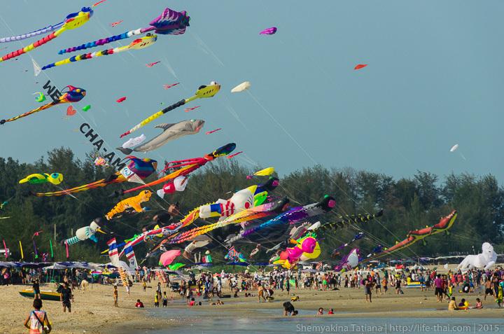 Ча-ам, Фестиваль воздушных змеев, Таиланд