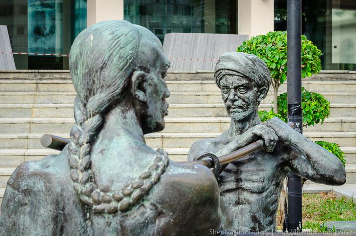 Сингапур, бронзовые статуи