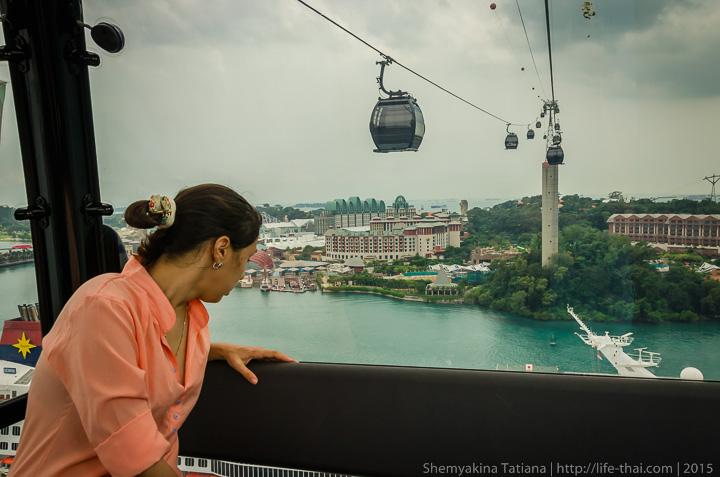 Канатная дорога, Сингапур, Сентоза