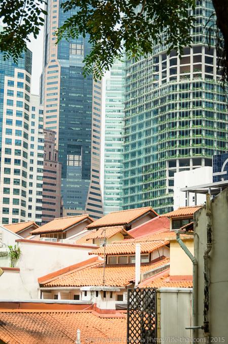 Черепичные крыши, Китайский квартал, Чайнатаун, Сингапур