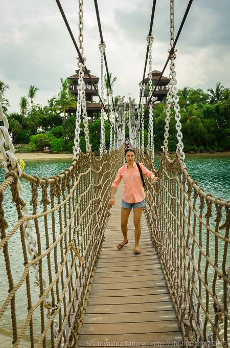Остров Сентоза, канатный мост
