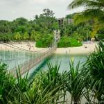 Мост с острова на Сентозу