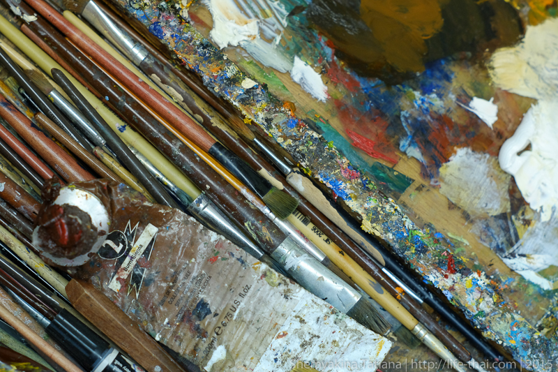 В мастерской художника, фото на Супер Такумар 55