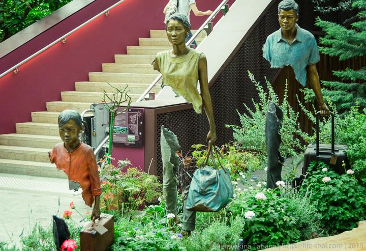 Люди, Flower Dome, Сингапур