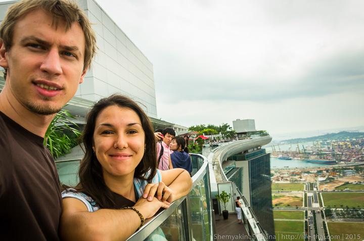 Себяшка на крыше отеля Marina Bay Sands