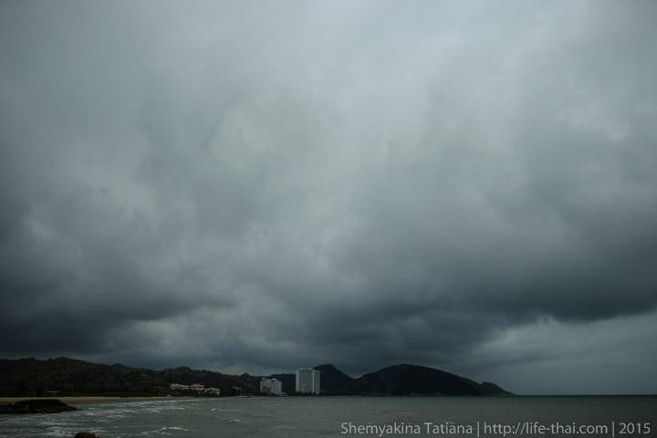 Дождь, тучи, Хуа Хин