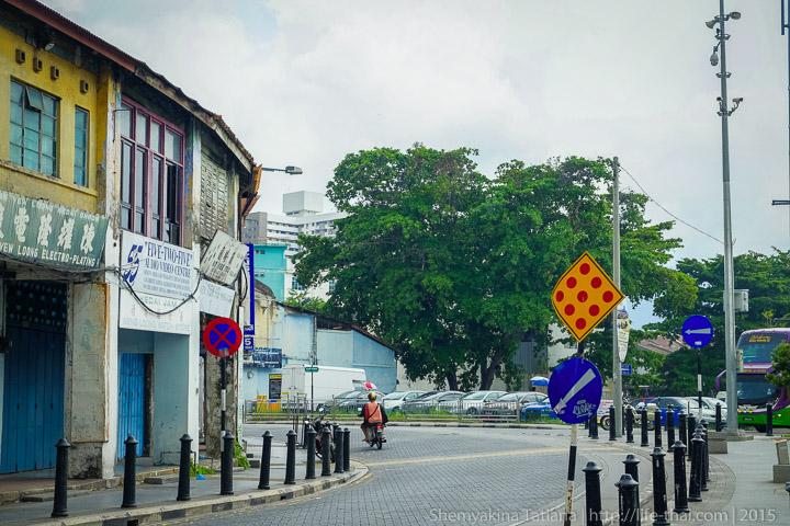 """Знак """"пицца"""" на острове Пенанг, Малайзия"""