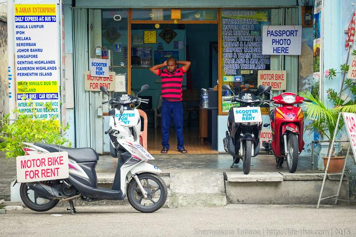 Байк в аренду на Пенанге, Малайзия