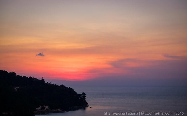 Пенанг, Малайзия, закат