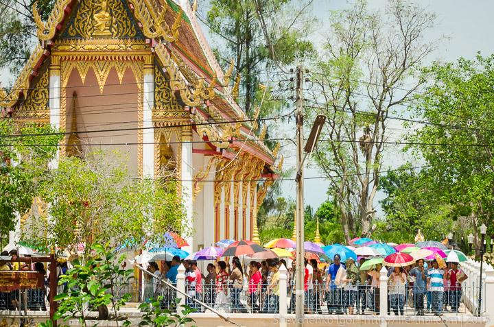 Шествие вокруг храма, Таиланд
