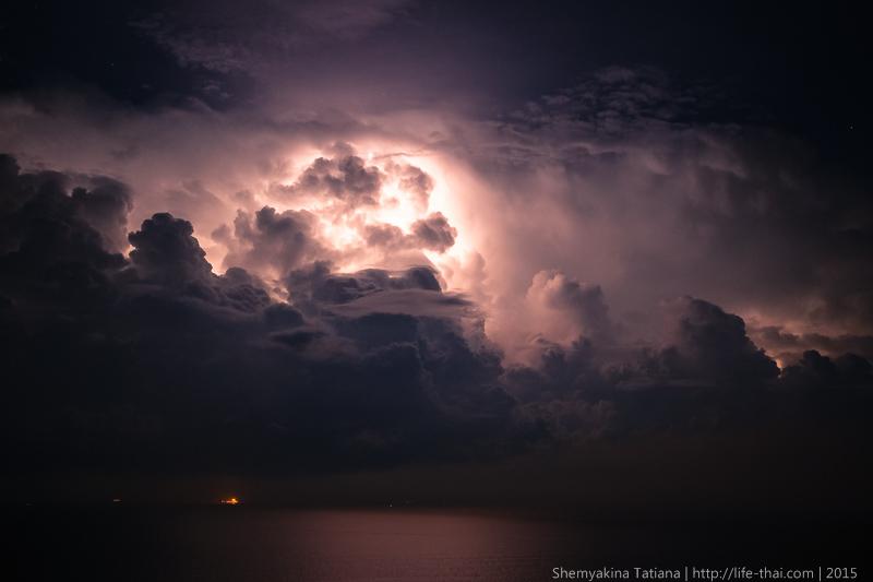 Молнии, остров Пенанг, Малайзия