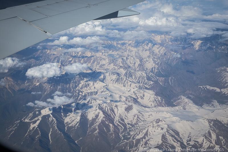 Горы, Вид из окна самолёта