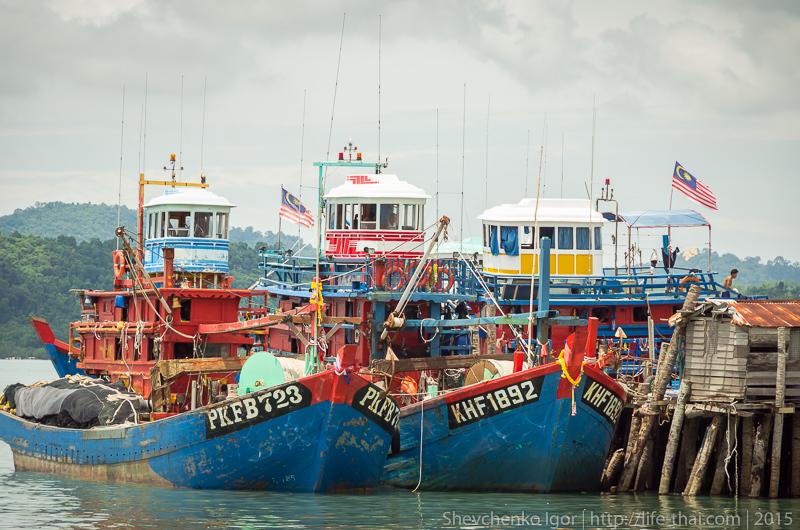 Лодки, остров Лангкави, Малайзия