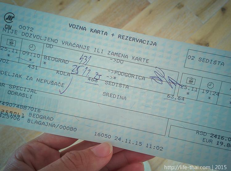 Из Белграда в Черногорию поездом