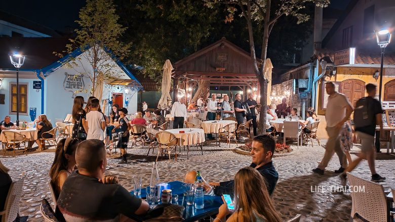 Улица Скадарлия - где погулять в Белграде вечером